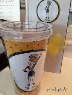 Go Team Cheer Tumbler - philoSophie's, Team Gift idea