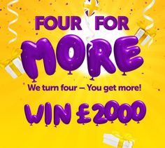 We Turn Four You Get More – Peachy Birthday! Come and join our birthday celebrations and win money!