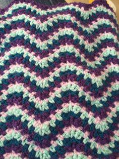 Ripple stitch for baby blanket!