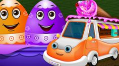 Surprise Eggs Toys - UTILITY Vehicles for Kids | Ice Cream Van & more | ...