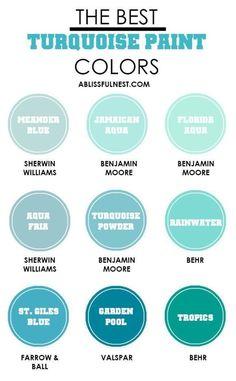 Lowes Paint Colors, Turquoise Paint Colors, Valspar Paint Colors, Turquoise Walls, Bedroom Turquoise, Turquoise Painting, Paint Color Schemes, Kitchen Paint Colors, Bedroom Paint Colors