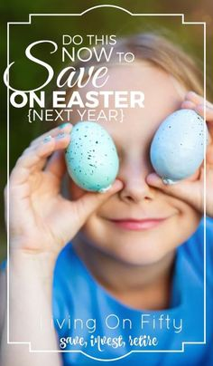 Yep, I know Easter 2016 is over, but if you follow these tips NOW you can save money on Easter next year plus take a weight off your mind by being ultra-prepared!