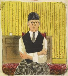 David Hockney, Self-portrait, 1954