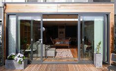Moderne uitbreiding woning, klapdeuren met mogelijkheid tot ...