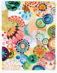 Six Watercolors by Melinda Hackett image 3 Zentangle, Yellena James, Bio Art, Image 3d, Tangle Art, Motif Floral, Abstract Watercolor, Doodle Art, Collage Art