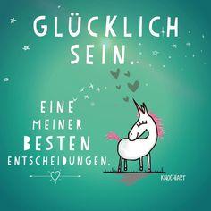 #Glücklich sein. Eine meiner besten #Entscheidungen. ☺️✨ #herzallerliebst #spruch #Sprüche #spruchdestages #motivation #thinkpositive ⚛ #themessageislove #pokamax #unicorn #einhorn Teilen und Erwähnen absolut erwünscht (hier: Heilbad...