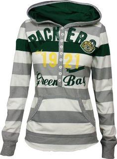 Green Bay Packers YAC Women's Striped Hoodie by G-III Sports, http://www.amazon.com/dp/B008ZQ44OE/ref=cm_sw_r_pi_dp_jlXcsb1SVWJD5