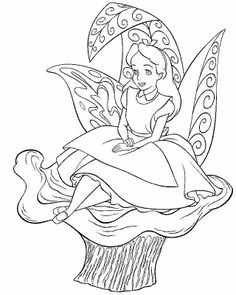 Alice In Wonderland Tea Party Coloring Page Disney Pinterest