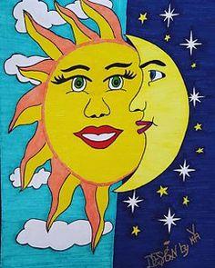 Inspirational Drawing - Sun And Moon by Yulanda Arnold-Kasper