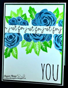 Create with Alyson: Colour Dare 238 - Just for You: Masked Roses