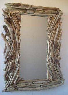 Driftwood Mirror, Diy Mirror, Driftwood Projects, Driftwood Ideas, Diy Jewelry Holder, Coastal Art, Shell Crafts, Nature Crafts, Bath Remodel