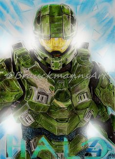 HALO Master Chief Prismacolor Pencil drawing on 24x30  https://www.facebook.com/BrauckmannsART
