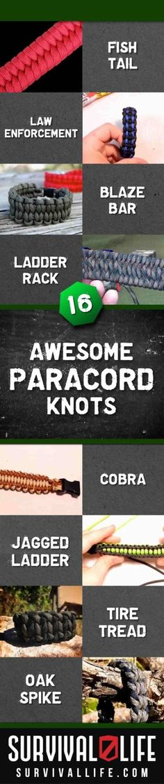 How To Make A Paracord Survival Bracelet | 16 Paracord Projects for Paracord Bracelets | Survival Life - Survival Life | Preppers | Survival Gear