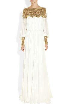 Marchesasilk-chiffon gown...tear