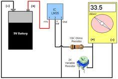 Digital Thermometer   Circuit Diagram