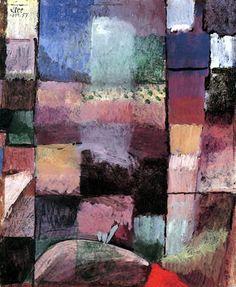 Paul Klee - Über ein Motiv aus Hammamet 1914