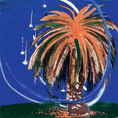 Brett Whiteley, Orange palm and lavender bay (Small version) , Suit Drawing, Artwork Images, Summer Suits, Classic Image, Global Art, Australian Artists, Pin Up Art, Tree Art, Art Market
