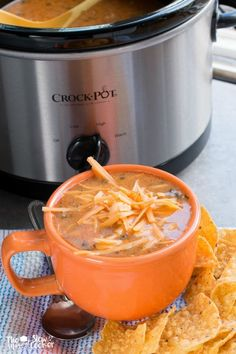 I am now going to do a Freezer Slow Cooker Meal of the Month as well. My first recipe is Slow Cooker Chicken Enchilada Soup.