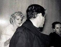 Marilyn with Milton and Amy Greene at a press conference to announce the formation of Marilyn Monroe Productions. Photo by James Haspiel, January 7th 1955.