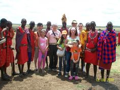 with the maasai community