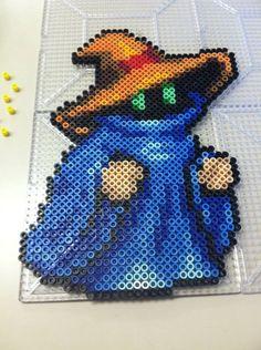Black Mage Final Fantasy Perler by Khoriana.deviantart.com on @deviantART