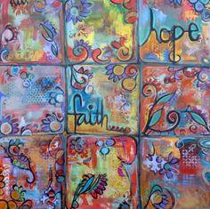 family canvas art-love this idea too!  Family art night?