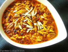 Turmeric and Saffron: Khoresh-e Khalal Badam & Zereshk - Slivered Almonds & Barberry Stew