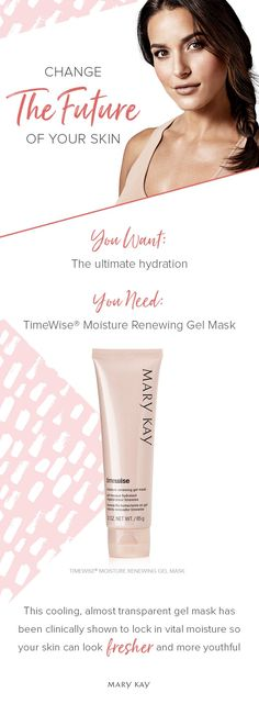 Hydration matters! When skin is not properly hydrated, lines and wrinkles can become more noticeable. The TimeWise® Moisture Renewing Gel Mask gives you 10 skin-renewing benefits* in 10 pampering minutes! | Mary Kay