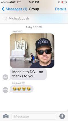 HAHAHAH @JoshMcDermitt @Cudlitz Whatever Josh