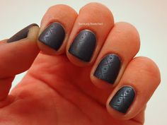 matte black nails with texture