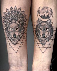 Best Wolf Tattoo Ideas - Wolf Tattoo Design Ideas With Meaning - Wolf T . - Best Wolf Tattoo Ideas – Wolf Tattoo Design Ideas With Meaning – Wolf Tattoo Paar Tattoos, Dog Tattoos, Couple Tattoos, Animal Tattoos, Body Art Tattoos, Fish Tattoos, Cross Tattoos, Wolf Tattoo Design, Design Tattoos