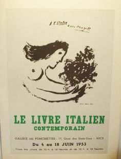 Chagall exhibit poster
