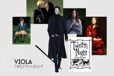 Literary Heroines: Viola, Twelfth Night by William Shakespeare