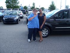 Betty from Middlesex NC is trading in her Dodge Grand Caravan for this brand new 2013 Chrysler Town and Country. Thank you Betty for heading back to Cox Dodge. Her sales person is Felicia Gray