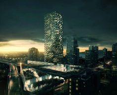 BIG's proposal, named after its location on the corner of Howe & Beach next to the Granville Street Bridge in downtown Vancouver, calls for 600 residential u...