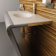 Corian sinks - unique sinks that combine style and functionality Contemporary Bathroom Sinks, Modern Small Bathrooms, Modern Bathroom Decor, Chic Bathrooms, Bathroom Ideas, Bathroom Furniture, Bad Inspiration, Bathroom Inspiration, Corian Sink