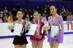 With Wakaba Higuchi and Satoko Miyahara  : Japan Figure Skating Championships 2015-16