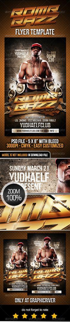 West Flyer Modely, Fonty a Rezance - hip hop flyer template