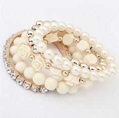 Bracelets Set of 5 - White