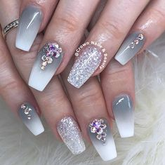 Today we have 16 Trending Nail Art Ideas Picked For You! All of these nail art i Fancy Nails, Trendy Nails, Matte Nails, Acrylic Nails, Nail Art Designs, Crown Nails, Natural Wedding Nails, Nailart, Nail Jewels