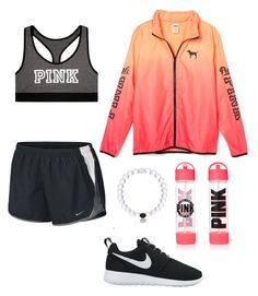 """Dance choreography today😌💗"" by hannahmmeyer ❤ liked on Polyvore featuring Victoria's Secret and NIKE"