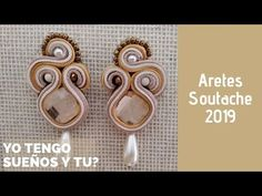 Tutorial Soutache, Shibori, Soutache Earrings, Textile Jewelry, Air Dry Clay, Jewelry Making Tutorials, Diy Jewelry, Gold Rings, Tatting