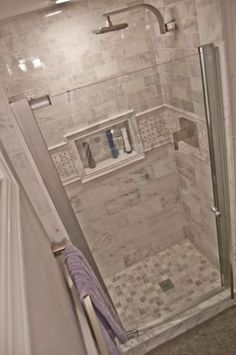 80 stunning tile shower designs ideas for bathroom remodel (68)