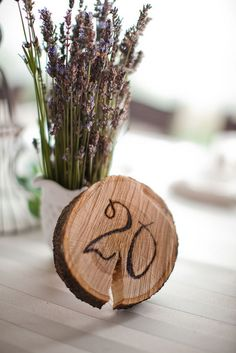 Rustic Table Numbers - dad can do this for free!