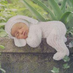 Newborn Baby Bunny Onesie Overalls - Baby Bear Jammies