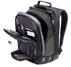 "Show details for Targus HP 17"" Green Backpack"
