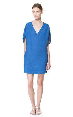 LINEN TUNIC - Dresses - Woman - ZARA United States