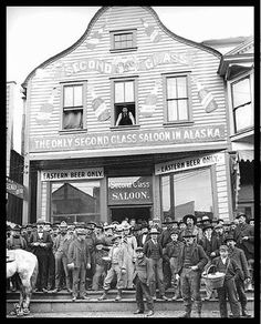 "The ""Second Class Saloon""...The saloon that Wyatt Earp and wife owned in Nome Alaska between 1887-1901"