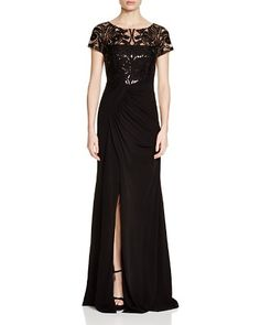 David Meister Embellished Bodice Gown | Bloomingdale's - Fashiondivaly | Fashiondivaly