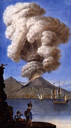 Pietro Fabris, Eruzione Vesuvio 9. agosto 1779